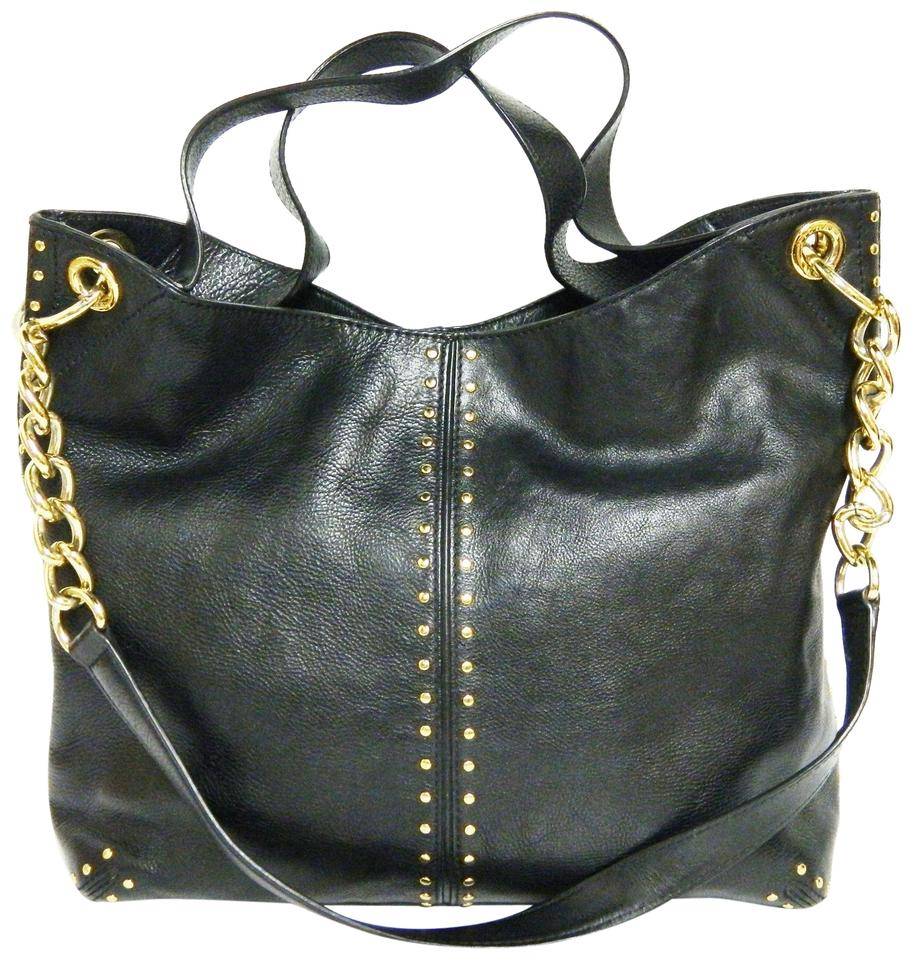 f10e3c4c8781a Michael Kors Studded Black Leather Hobo Bag - Tradesy