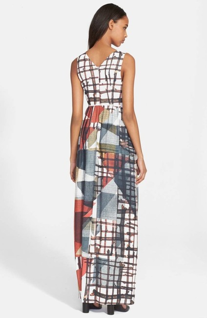 multi Maxi Dress by Clover Canyon Sleeveless Grid Image 1
