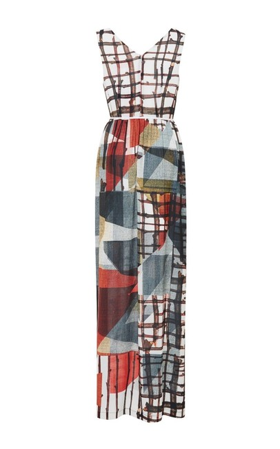 multi Maxi Dress by Clover Canyon Sleeveless Grid Image 2