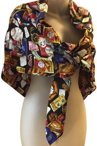 Nicole Miller NEW NICOLE MILLER 100% Silk Scarf Baseball Theme Limited Edition Vtg.