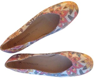 "Peter Kaiser Leather Euro Size 7 Non Slip Detailed Leatherwork Mosaic ""tile"" Patterned flat Flats"
