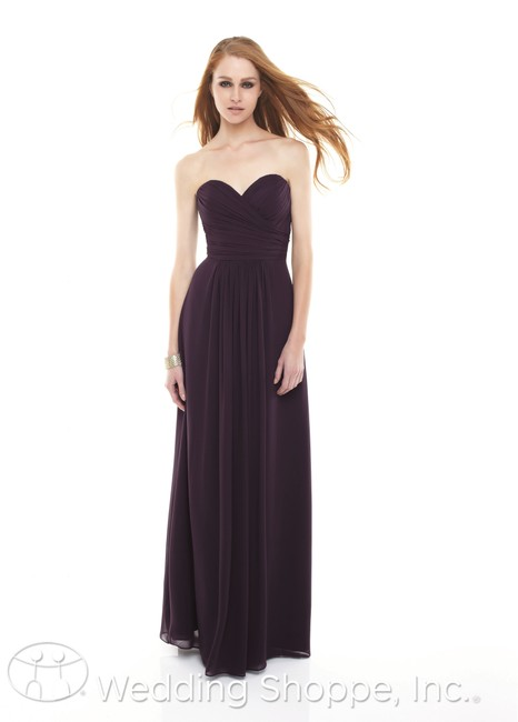 Item - Purple Chiffon 165 Traditional Bridesmaid/Mob Dress Size 6 (S)