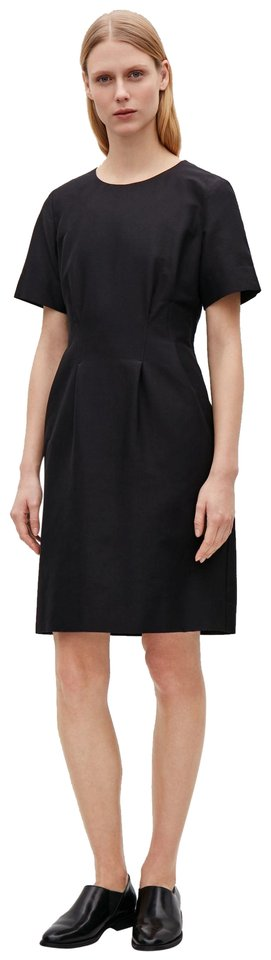93ac539cc0a4 COS Black Pleated Waist with Pockets Short Cocktail Dress Size 4 (S ...
