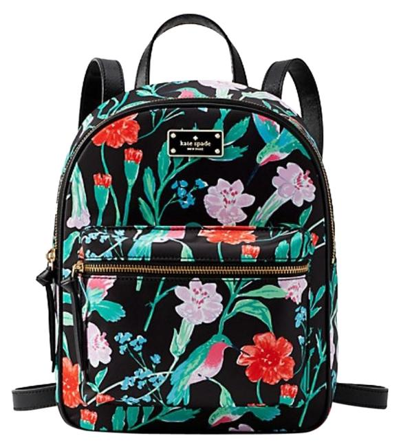 Item - Small Bradley Wilson Road Hummingbird Floral Multicolor Nylon Backpack