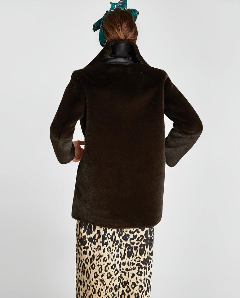fd04984b Dark Brown Faux Coat