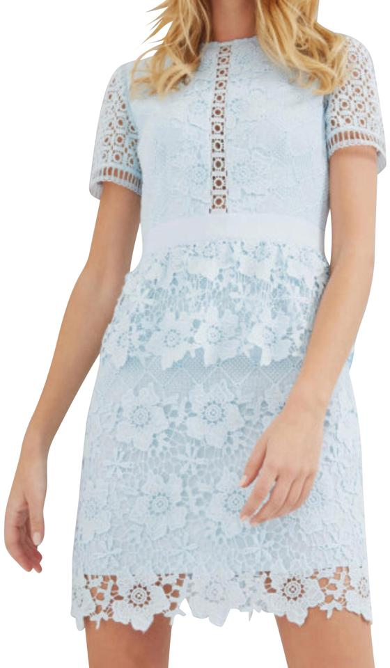 4fa1db9bf330e5 Ted Baker Baby Blue Dixa Layered Short Formal Dress Size 2 (XS ...
