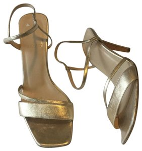 Bally Leather Slingback Strappy Formal Gold Sandals