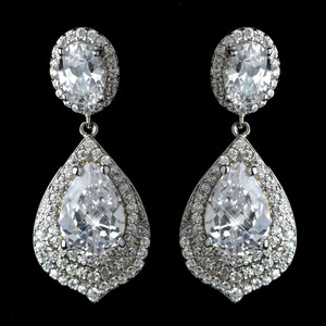 Elegance By Carbonneau Dazzling Cz Wedding And Formal Earrings