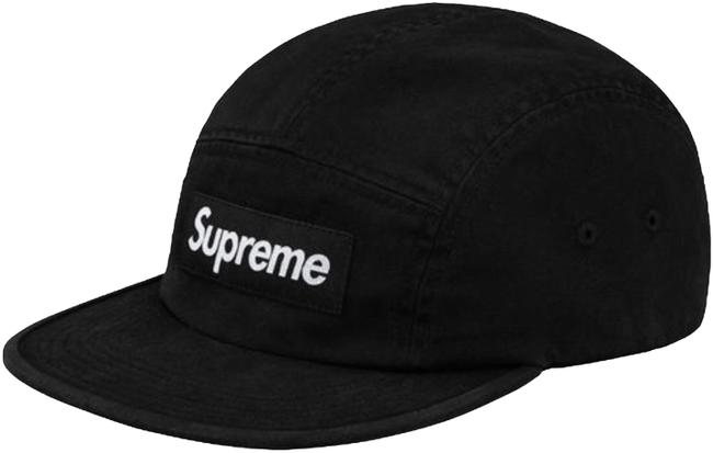 Item - Black Ss18 Washed Chino Twill Camp Cap Hat