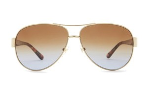 Tory Burch Tory Burch Gold Aviator Metal Frame Sunglasses