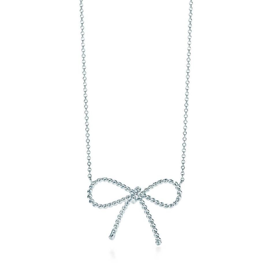 6030b4af4551 Tiffany   Co. Retired Twisted Bow necklace Image 0 ...