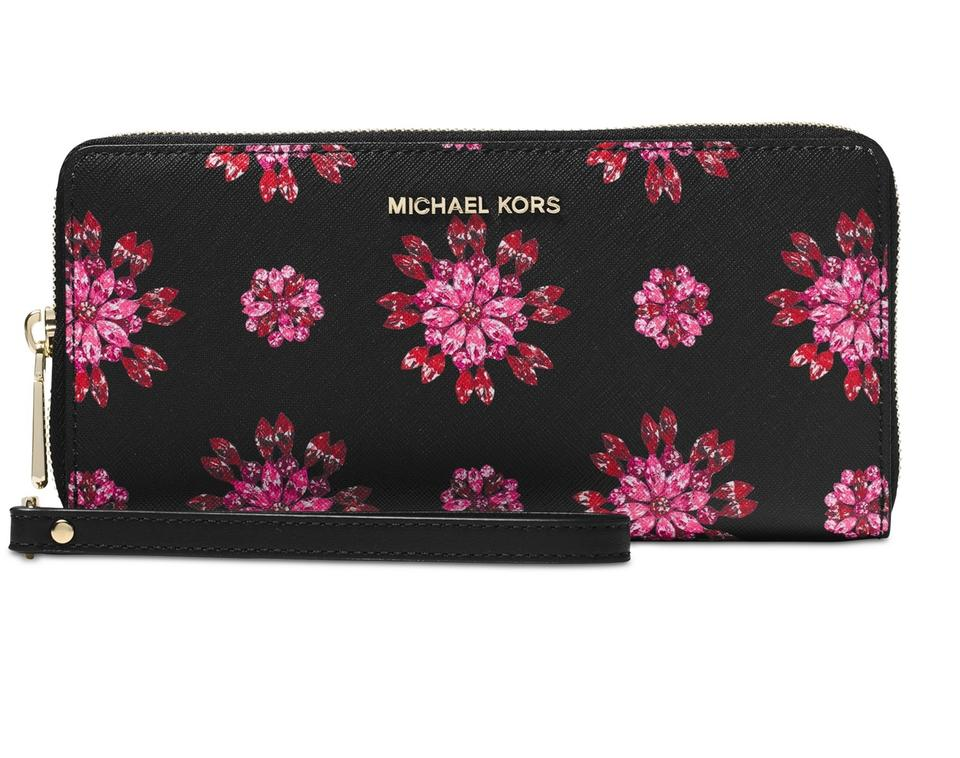 640717235c914d Michael Kors Michael Kors Jet Set Floral Jewel Travel Continental Wallet  Image 0 ...