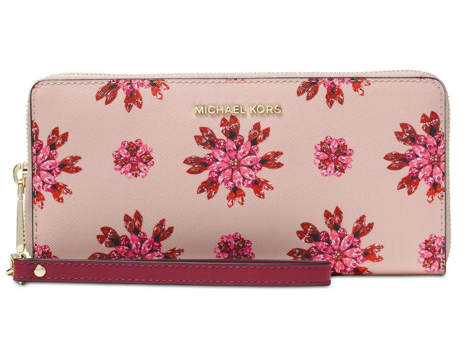 bd9069bb859b Michael Kors Michael Kors Jet Set Floral Jewel Travel Continental Wallet  Image 0 ...