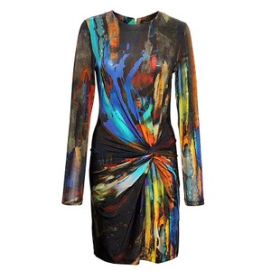 Ted Baker short dress multi Long Sleeve Jersey Ruched on Tradesy