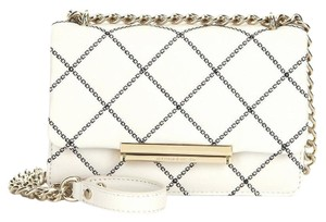 Kate Spade Emerson Place Mini Lawren Quilted Leather Cement/Black Convertible Cross Body Bag