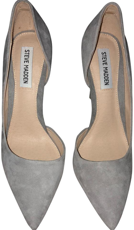 306a0ca8341 Steve Madden Light Gray Suede Felicity Pointed Toe Pumps Size US 8.5 ...