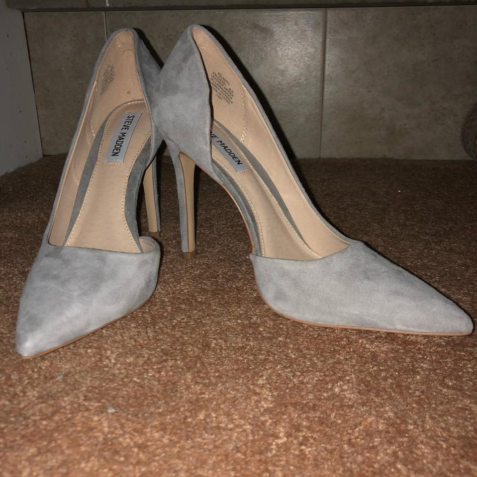 a4fc6b50ed1 Steve Madden Light Gray Suede Felicity Pointed Toe Pumps Size US 8.5  Regular (M, B) 43% off retail