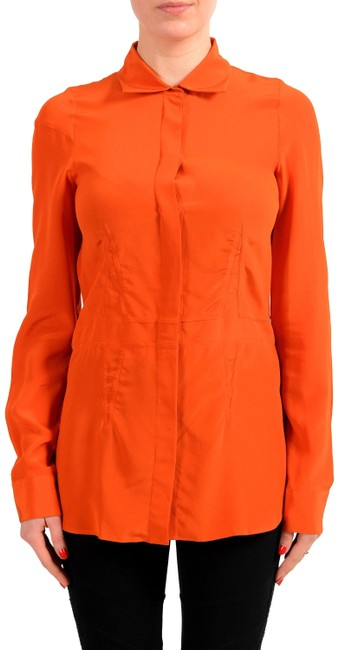Maison Margiela Orange V-8998 Button-down Top Size 4 (S) Maison Margiela Orange V-8998 Button-down Top Size 4 (S) Image 1