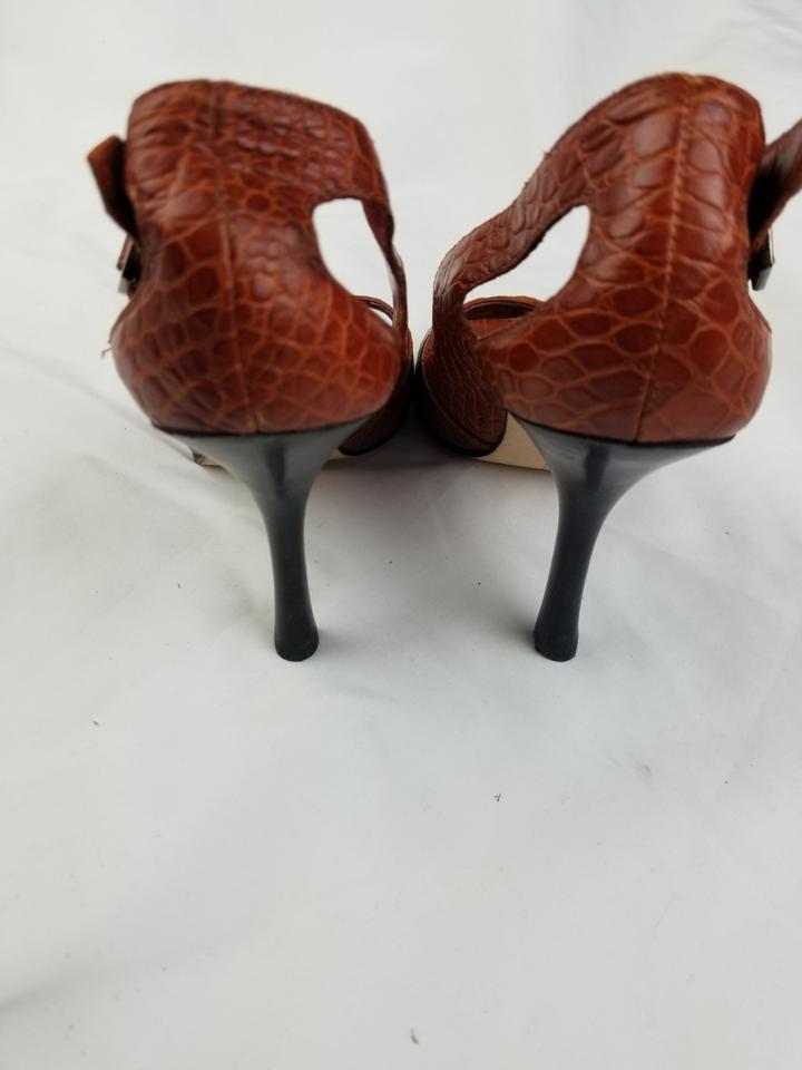 260148a9953 Steven by Steve Madden Red Leather Croc Print Pumps Size US 7 ...