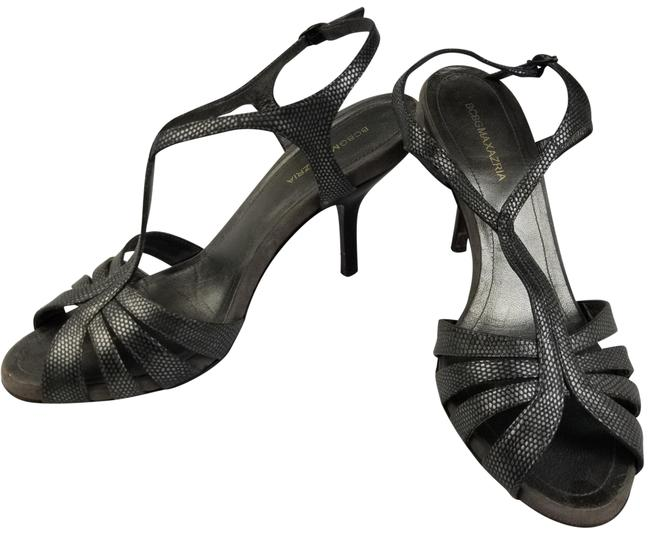 Item - Pewter Silver Metallic Heeled Sandals Pumps Size US 8 Regular (M, B)