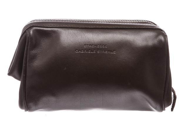 Item - Brown Gabriele Strehle Leather Makeup Case Cosmetic Bag
