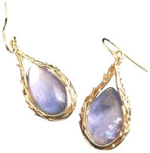 Alexis Bittar gold encased iolite drop earrings