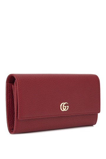 184901f2177 ... Gucci Gucci GG Marmont Leather Long Flap Wallet Red Leather Image 1