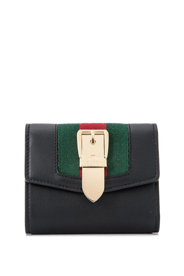 185dad39855 Gucci Gucci Sylvie Leather Wallet Black Leather Image 0 ...