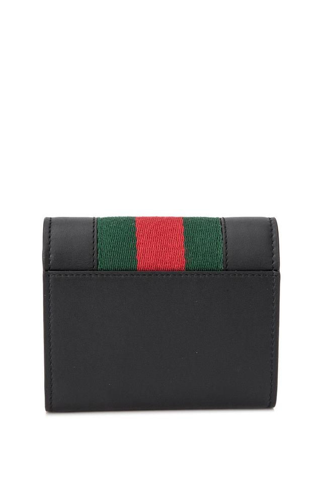 60191dabd11 Gucci Gucci Sylvie Leather Wallet Black Leather Image 3. 1234