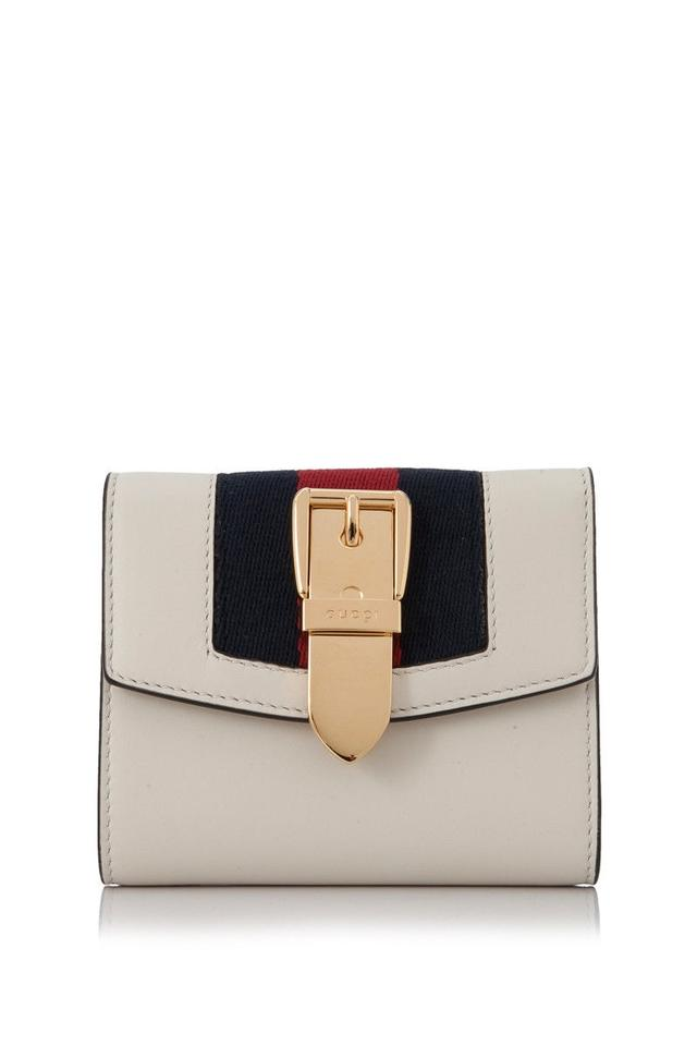 Gucci Sylvie Leather White Leather Wallet - Tradesy