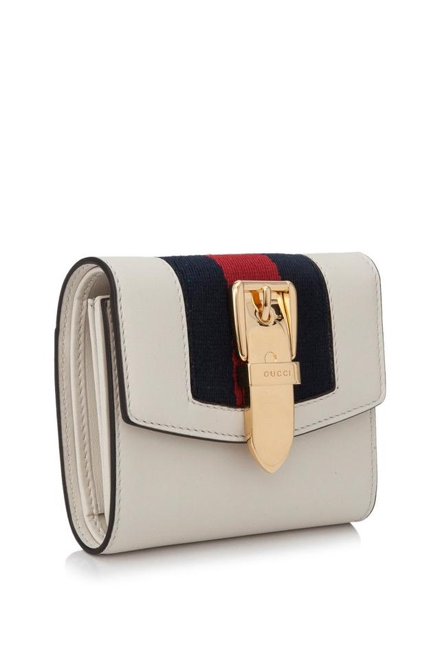 9cdbf35eb52 Gucci Gucci Sylvie Leather Wallet White Leather Image 3. 1234