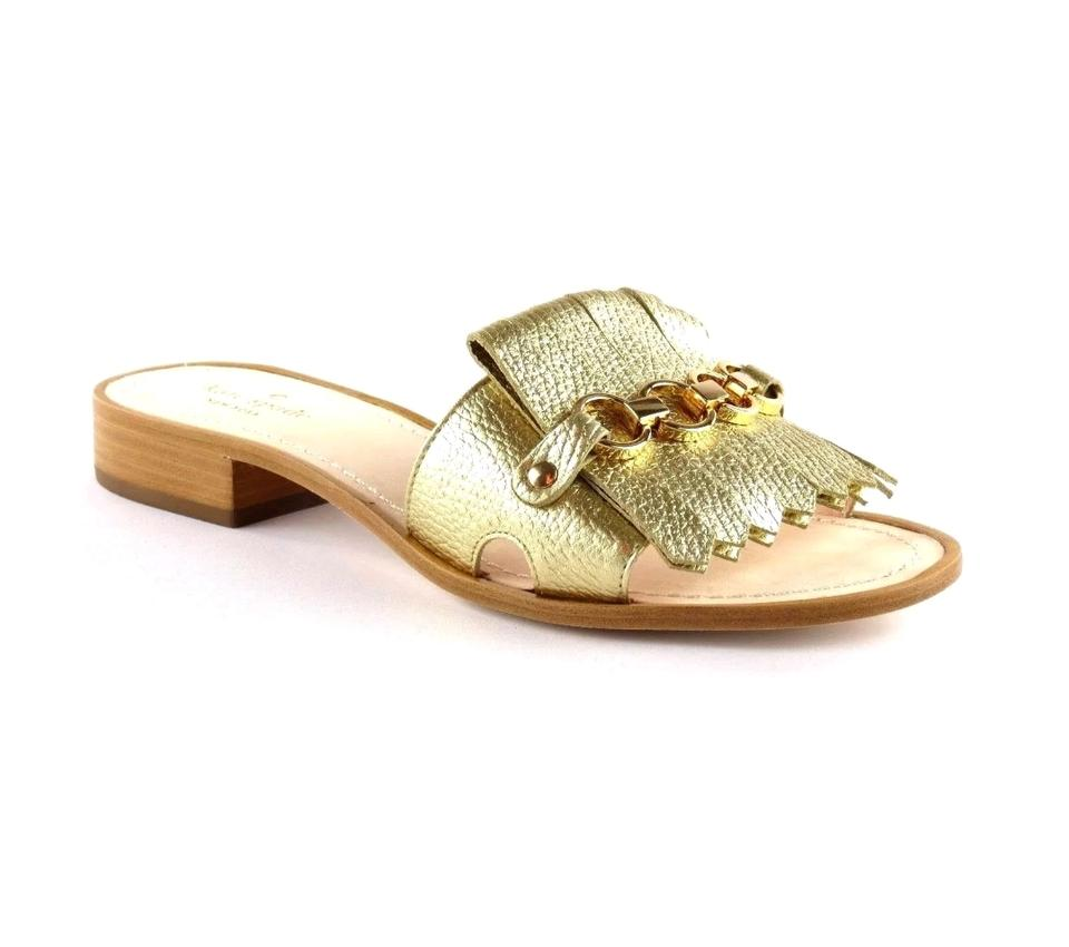 fc9a8852b1a4 Kate Spade Gold New York Brie Sandals Size US 7.5 Regular (M