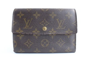 Louis Vuitton Bifold Compact Flap Square Large Brown Clutch