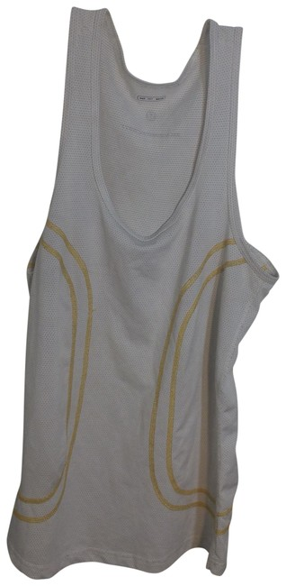 Item - White Jersey Silverescent Mesh Activewear Top Size 6 (S)