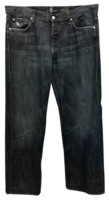 Item - Blue Dark Rinse 001 Denim Men's 40 Relaxed Fit Jeans Size 18 (XL, Plus 0x)