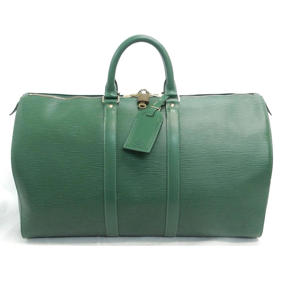 8deb2370ea90 Louis Vuitton Keepall 45 Green Epi Leather Weekend Travel Bag - Tradesy