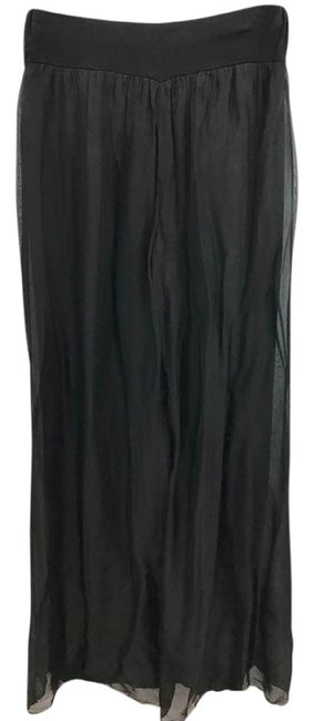 Item - L Made In Italy Black Sheer Overlay Elastic Waist M/L Pants Size 8 (M, 29, 30)