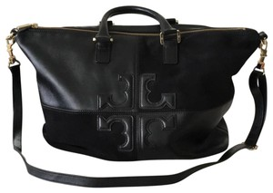 Tory Burch Satchel in Black/Black and gold hardware