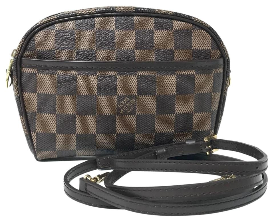 8ad18750d31 Louis Vuitton Ipanema Pochette Mini Damier Ebene N51296 Brown Canvas ...