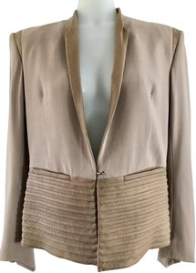 Helmut Lang Goat Skin Taupe Sexy Dusty Rose Blazer