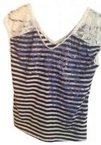 Fang Fashion Top blue/white
