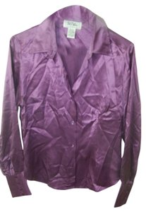 Bob Mackie Button Down Shirt purple