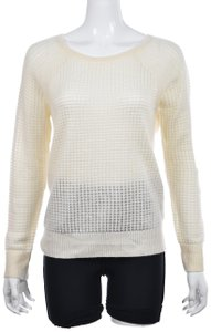 Vince Metallic Knit Crewneck Casual Dryclean Only Sweater