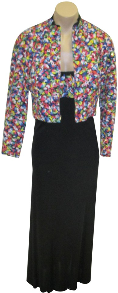 Bob Mackie Black & Multi-color Mackie-ray Aghayan Vintage Gown W ...