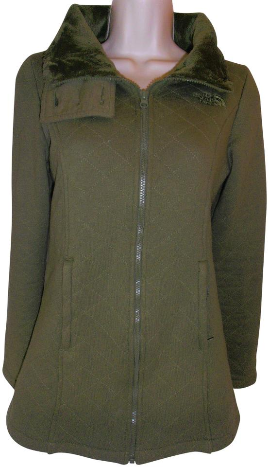 ca10fdf3ad3b The North Face Olive Green Women s Quilted Jacket Furry Inside Xs ...
