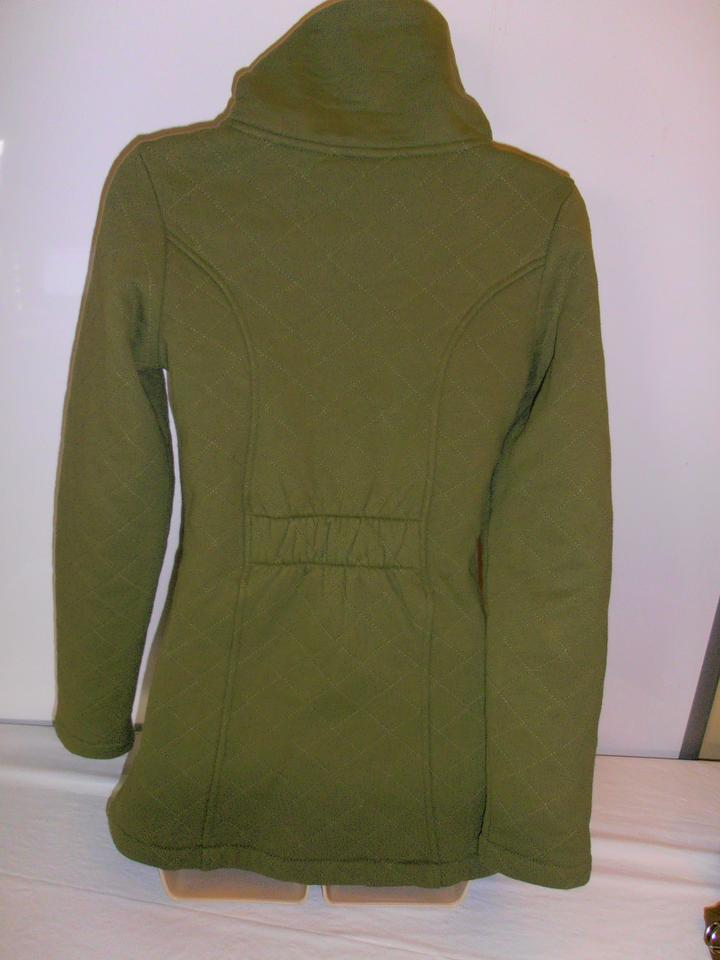 The North Face Olive Green Womens Quilted Jacket Furry Inside Xs