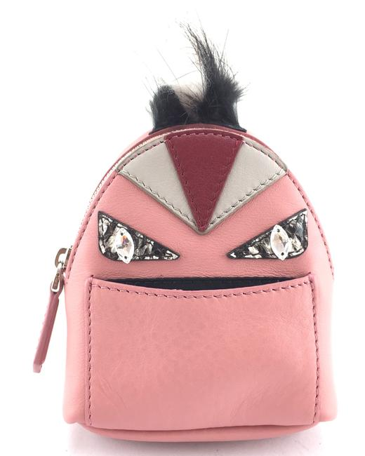 Item - #17597 Pink Backpack Rare Monster with Fur Python Skin Eyes Leather Charm