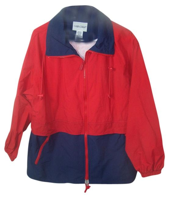 Cabin Creek red with blue bottom and trim Jacket