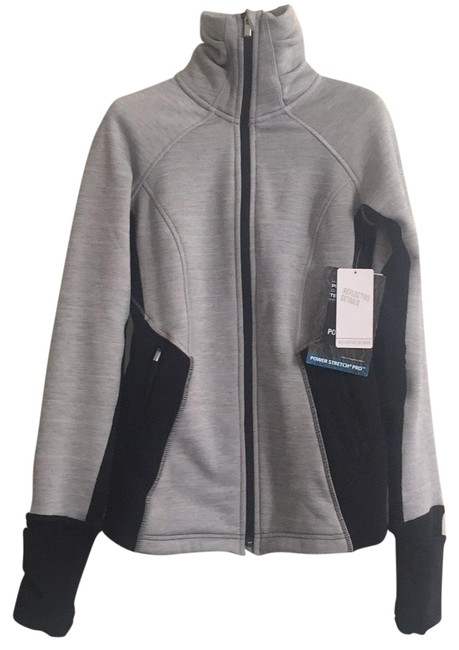 Athleta Black/Grey Heather Polartec® Powerlift Activewear Outerwear Size 00 (XXS) Athleta Black/Grey Heather Polartec® Powerlift Activewear Outerwear Size 00 (XXS) Image 1