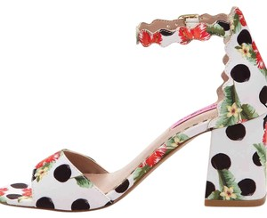 Betsey Johnson Floral polka dot Sandals